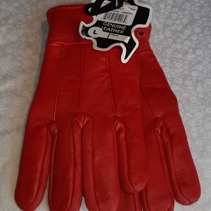 Genuine lambskin leather gloves lined with thinsul
